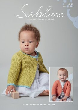 Cardigans in Sublime Baby Cashmere Merino Silk DK - 6135 - Downloadable PDF