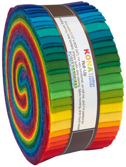 Robert Kaufman Kona Cotton Solids 2.5in Strip Roll - RU-228-41