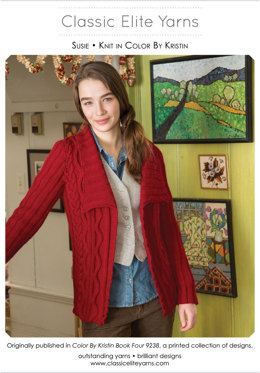 Susie Cardigan in Classic Elite Yarns Color by Kristin - Downloadable PDF