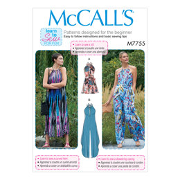 McCall's Misses' Romper, Jumpsuits and Belt M7755 - Sewing Pattern