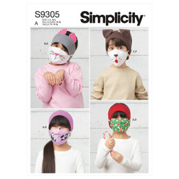Simplicity Children's Headbands, Hat & Face Coverings S9305 - Sewing Pattern