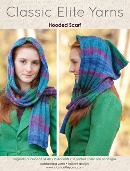 Hooded Scarf in Classic Elite Yarns Liberty Wool Prints - Downloadable PDF