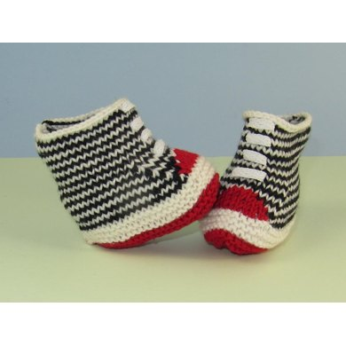 Baby Stripe Basketball Booties