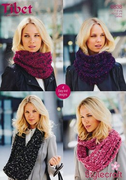 Snoods in Stylecraft Tibet Super Chunky - 8838