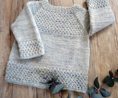 Silver Gum top down sweater - P137