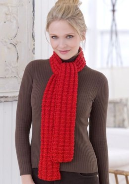Heartwarming Knit Scarf in Red Heart Super Saver Economy Solids - LW2442
