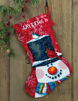Dimensions Snowman and Friends Stocking Tapestry Kit - 33 x 51 cm