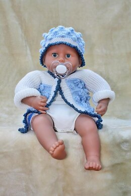 Bobbled Cardigan and Hat