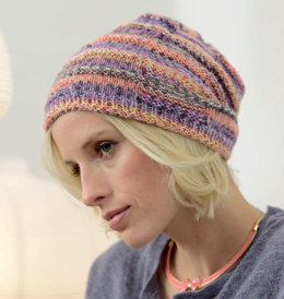 Beanie with Textured Pattern in Regia 6 Ply Color - R0263 - Downloadable PDF