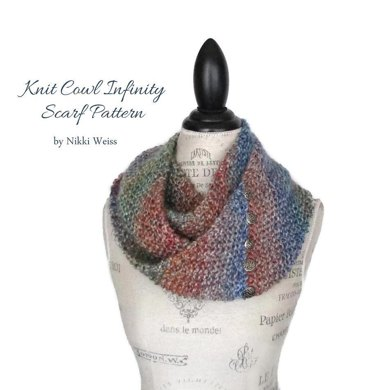 Homespun Knit Cowl Infinity Scarf Knitting Pattern By Mymountainstudio
