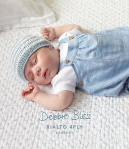 Babies Striped Crochet Hat and Bootees in Debbie Bliss Rialto 4Ply - DB012