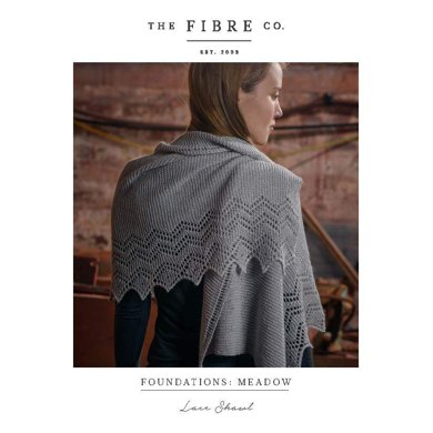 Lace Shawl in The Fibre Co. Meadow - Downloadable PDF