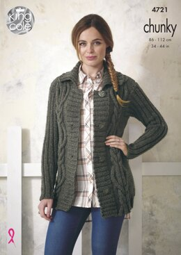 Jackets in King Cole Chunky - 4721