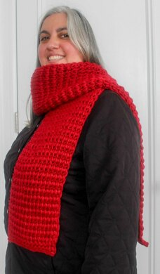 Tunisian Extended Knit Scarf