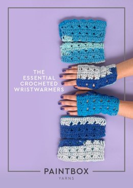 The Essential Crocheted Wristwarmers in Paintbox Yarns Chunky Pots - Downloadable PDF