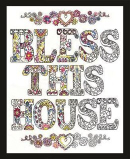 Design Works Zenbroidery Bless This House Cotton Fabric Embroidery Kit