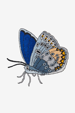 Common Blue Butterfly in DMC - PAT0477 - Downloadable PDF
