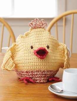 Chicken Tea Cozy in Lily Sugar 'n Cream Twists