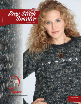 Drop Stitch Sweater in Misti Alpaca Ayllu Overdye Aran - 1228 - Downloadable PDF