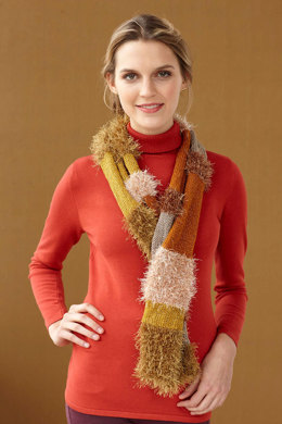 Glamorous Furry Scarf in Lion Brand Vanna's Glamour and Fun Fur - L0696
