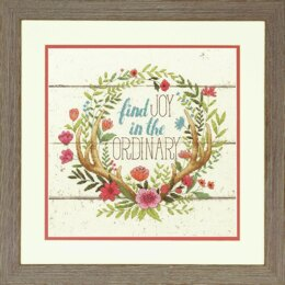 Dimensions Counted Cross Stitch Kit: Rustic Bloom - 30.48 x 30.48cm