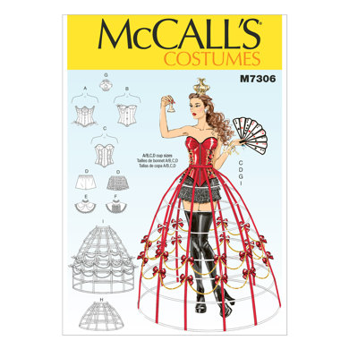 McCall's Corsets, Shorts, Collars, Hoop Skirts and Crown M7306 - Sewing Pattern