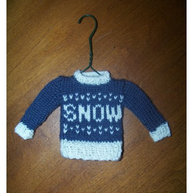 Christmas Tree Ornament Tiny SNOW Pullover