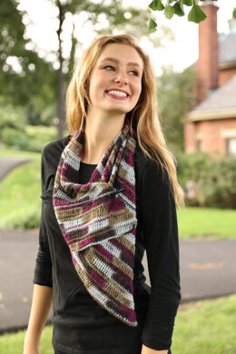 Diagonal Crochet Wrap  in Plymouth Yarn Andes Sock - F886 - Downloadable PDF