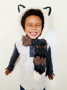 Finley the Fox Hooded Scarf