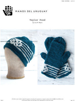 Taylor Pond Hat & Gloves in Manos del Uruguay Clasica Wool