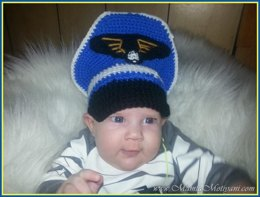 Crochet Aviator Pattern A Pilot Military Cap For Baby