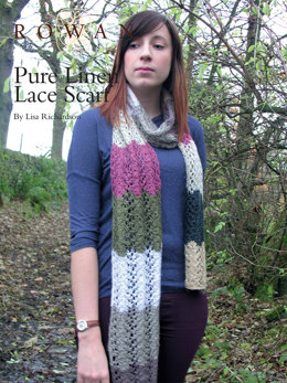 Pure Linen Lace Scarf in Rowan Pure Linen