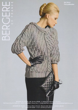 Cable Sweater in Bergere de France Pur Merinos Francais - 33441
