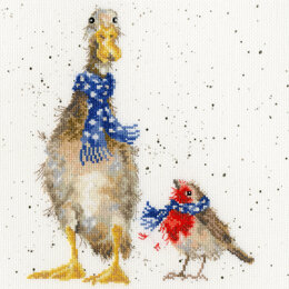 Bothy Threads Christmas Scarves, Hannah Dale Cross Stitch Kit - 26cm x 26cm