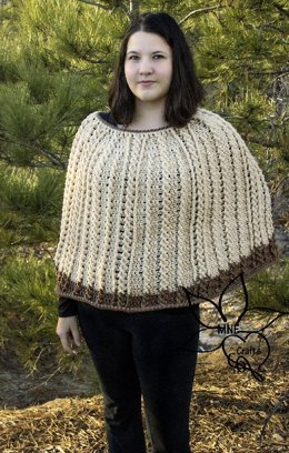 Tie Me in Cables Poncho