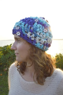 Bundled Up Beanie in Knit Collage Gypsy Garden
