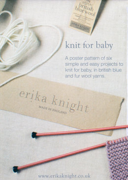 Knit for Baby Poster by Erika Knight