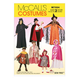 McCall's Children's, Boys' and Girls' Cape and Tunic Costumes M7224 - Sewing Pattern