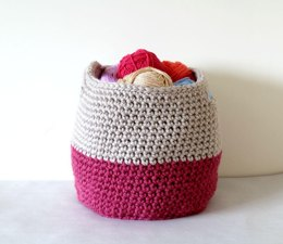 PDF19 Crochet Storage Basket