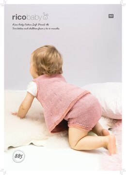 Dress and Panties in Rico Baby Cotton Soft DK & Rico Baby Cotton Soft Print DK - 885 - Downloadable PDF