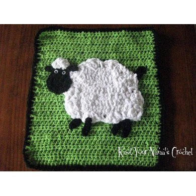 Crochet Sheep Applique