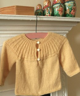 Little Angel Sweater in Susan Crawford Excelana 4 Ply