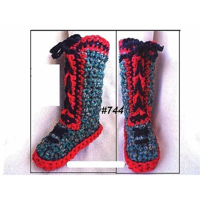 744 RED SOLE Chunky Tall Slippers