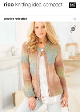 Ladies' Cardigans in Rico Creative Reflection Print - 143