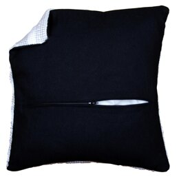 Vervaco Cushion Back with Zipper: Black