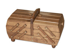 Shaped Cantilever Sewing Box, Beech Wood -  Brown Colour