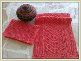 Eyelet Seed Chevron Reversible Knit Towel