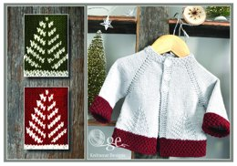 'Fir Christmas' cardigan - P138