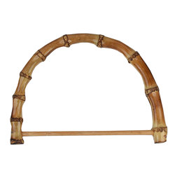 "Sunbelt Fastener Co Bamboo Bag Handle 7"" Half Round with Rod"