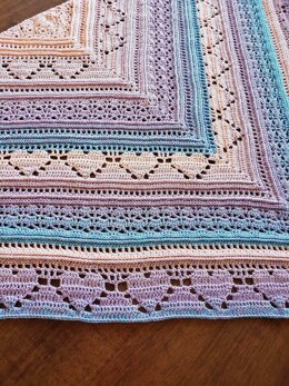 Bumpy road to love shawl